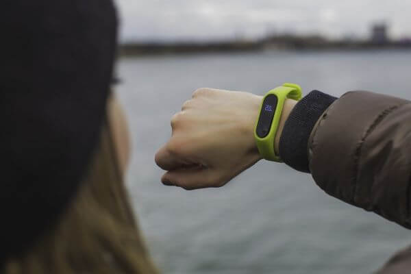 Fitness tracker, example of modern wearable technology