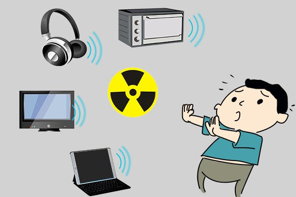 EMF radiation from wireless headphones and other devices