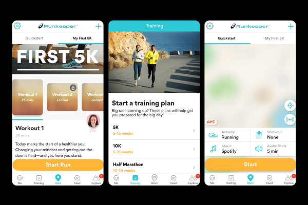 Runkeeper app for exercise tracking and running
