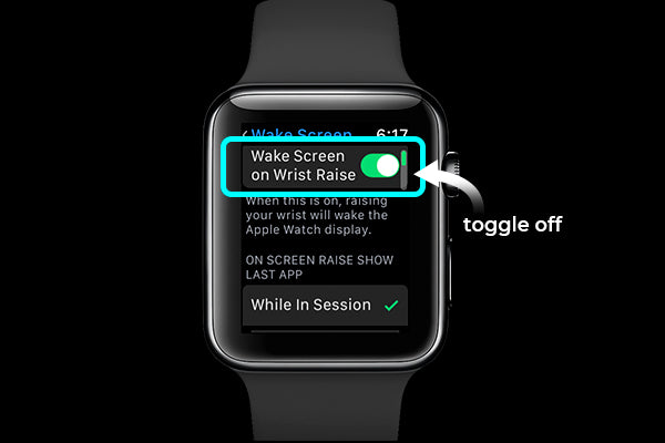 "turn off ""wake screen on wrist raise"" to save Apple Watch battery"