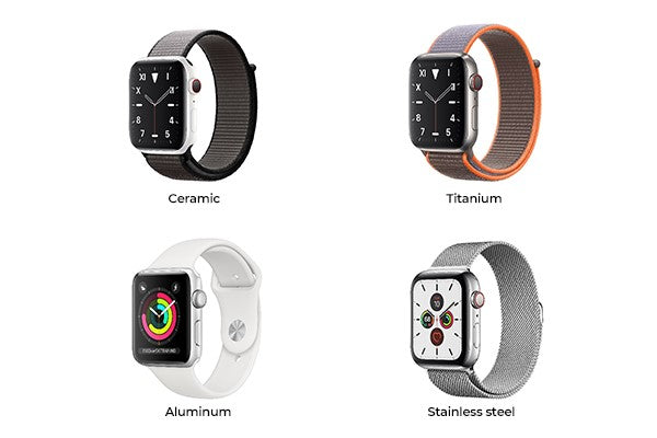 Apple Watch materials aluminum stainless steel Apple Watch
