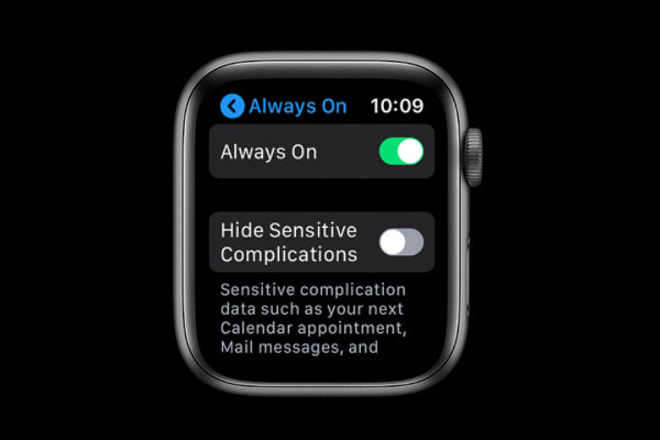 disable Always On display on your Apple Watch