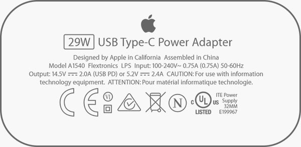iPhone 29W adapter