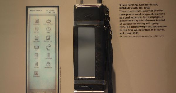 the first smartphone from IBM Simon Personal Communicator