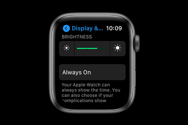 adjust brightness on your Apple Watch to save battery