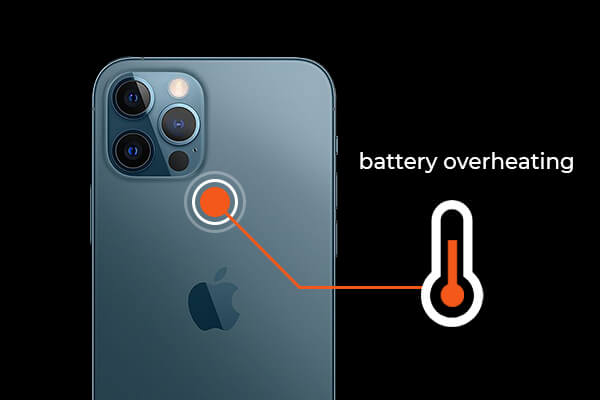 the back of iPhone is hot; iPhone battery overheating