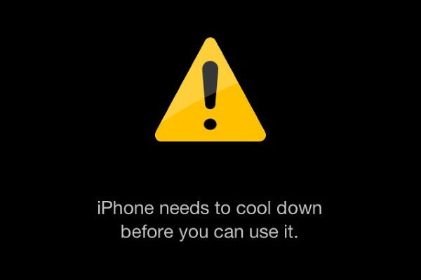 overheating iPhone shuts down