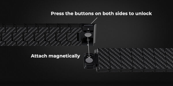 Magnetic strap, PITAKA carbon fiber watch band