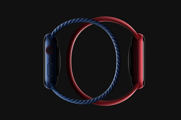 red and blue solo loops for Apple Watch Series 6