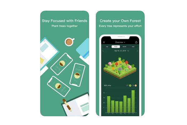 Forest iPhone productivity app