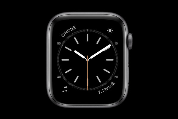 A dark face on Apple Watch can save battery