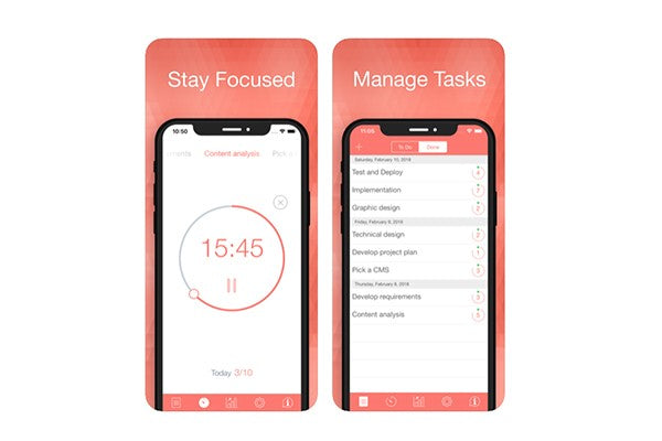 BeFocused iPhone productivity app