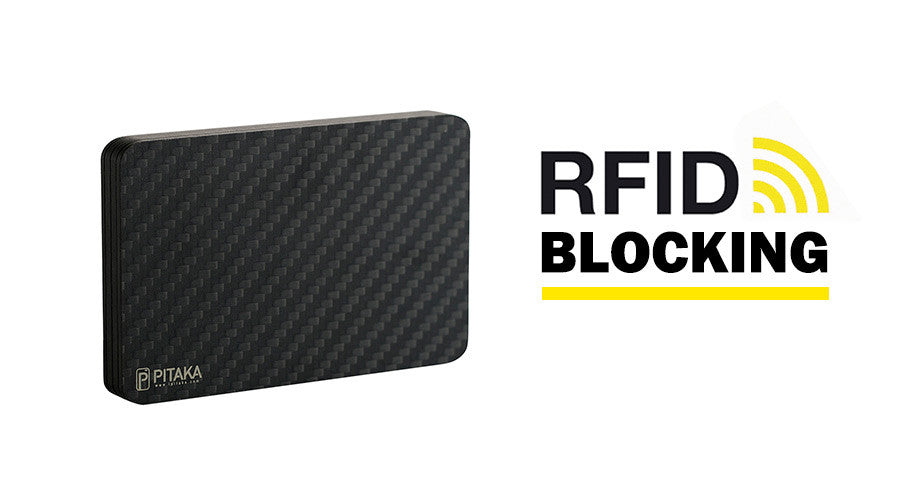 PITAKA carbon fiber wallet can block RFID scanning