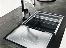 a sink made of composite materials