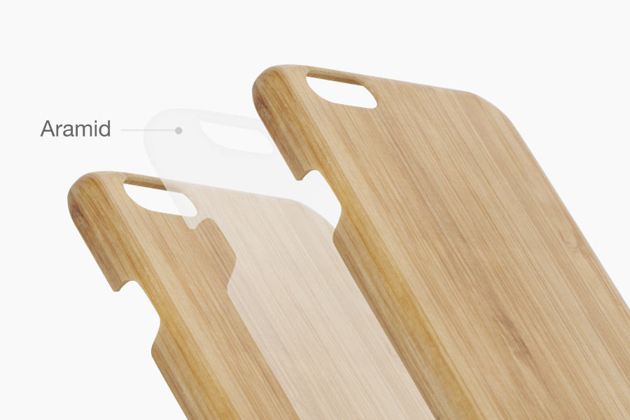 PITAKA puts a layer of aramid fiber between the wood veneers