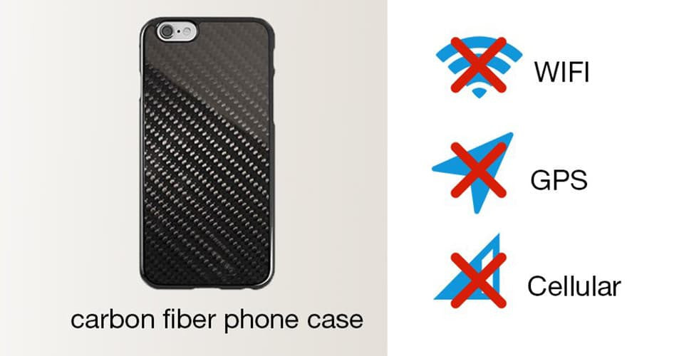 carbon fiber phone cases will do damage to cell phone signal