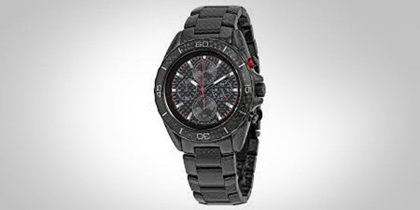 Michael Kors Jetmaster Black Chronograph Carbon Fiber Watch