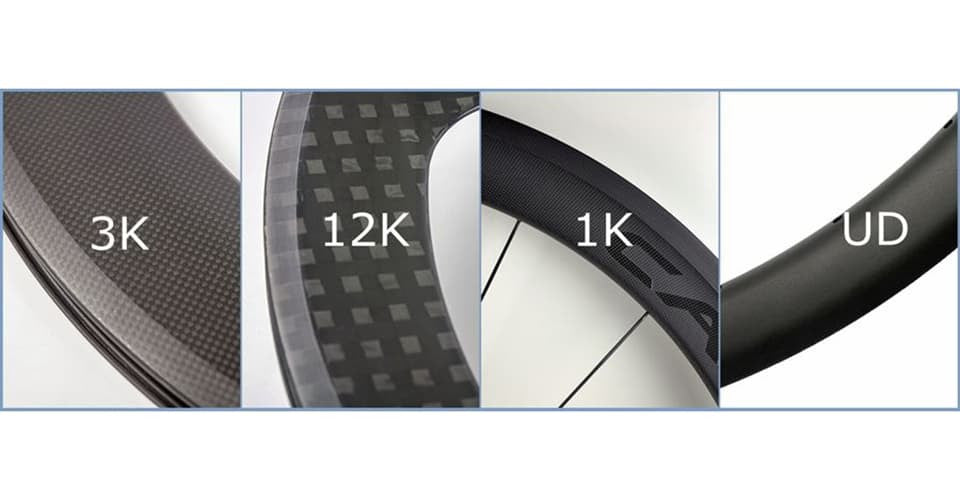the weaves of 1K carbon fiber, 3K carbon fiber, 12K carbon fiber, UD carbon fiber