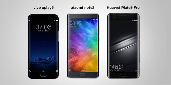 vivo xplay-6 vs. xiaomi note2 vs. huawei mate 9 pro