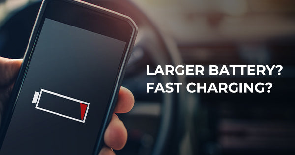 Larger battery vs faster charging:  which is a better solution to extend battery life?