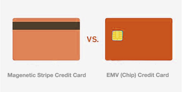 differences between a magnetic stripe card and a emv chip card