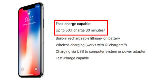 Apple's fast charging