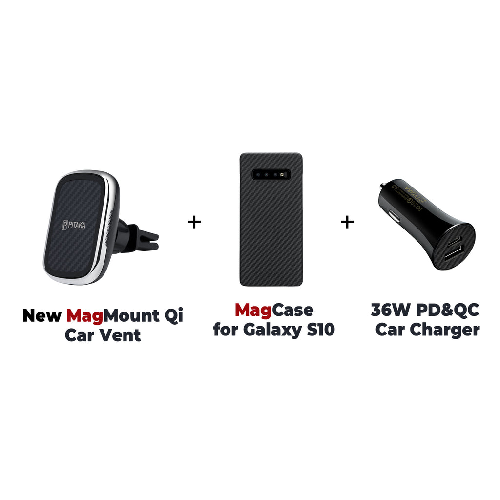 MagEZ Mount Qi + MagEZ Case + 36W PD&QC Car Charger