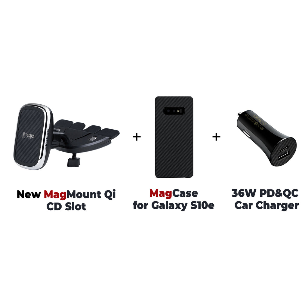MagEZ Mount Qi + MagEZ Case for SamSung + 36W PD&QC Car Charger