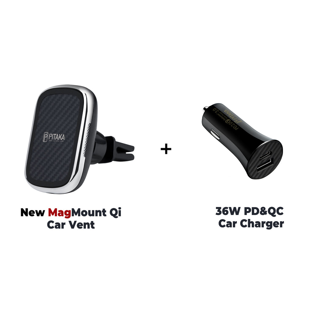 MagEZ Mount Qi + 36W PD&QC Car Charger