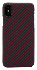 iPhone X Black-Red (Twill) Case