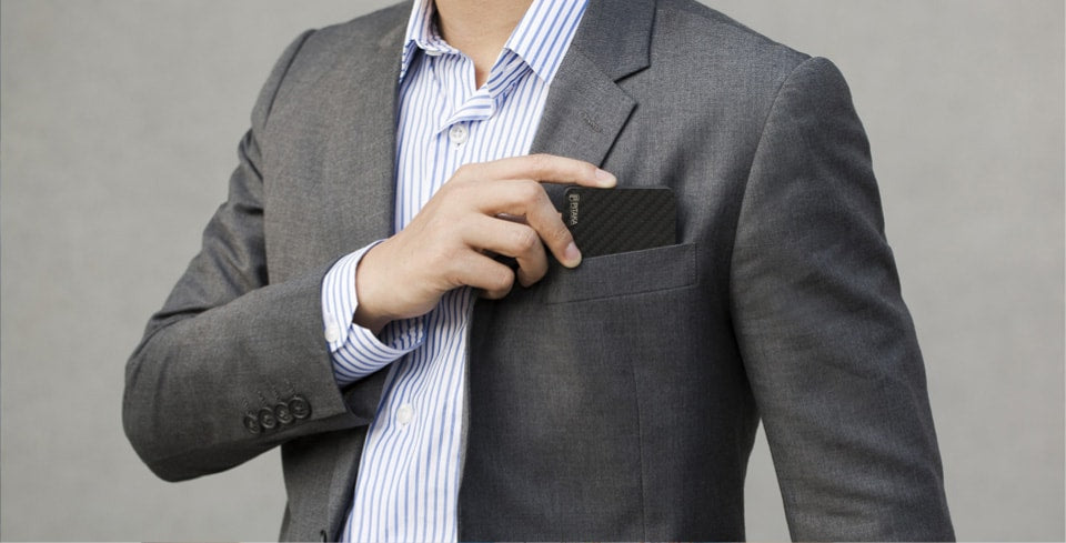 the card holder with suit