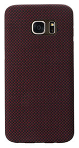 Samsung Galaxy S7 edge Black-Red (Plain) Case