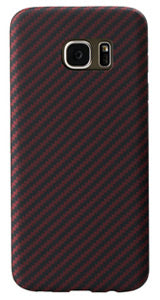 Samsung Galaxy S7 edge Black-Red (Twill) Case