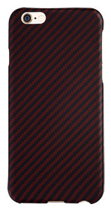 iPhone 6 6s Black-Red (Twill) Case