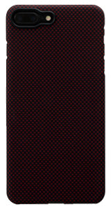 iPhone 7 Plus Black-Red (Plain) Case