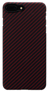 iPhone 7 Plus Black-Red (Twill) Case