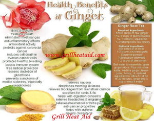 Proven Health Benefits of Ginger Discovered by Grill Heat Aid