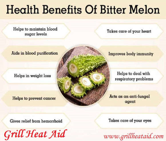 Scientific Health Benefits of Bitter Gourd Discovered by Grill Heat Aid
