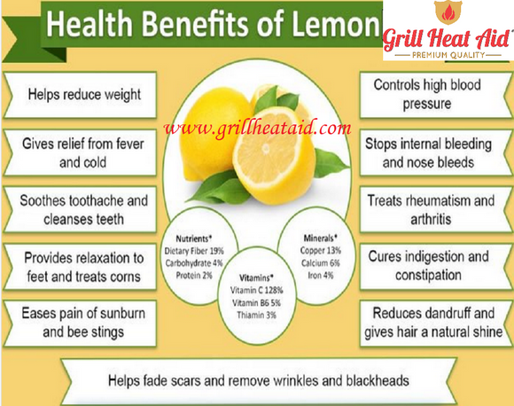 Proven Health Benefits of Lemon Discovered by Grill Heat Aid