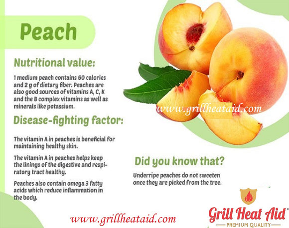 Scientific Health Benefits of Peach Suggested by Grill heat Aid