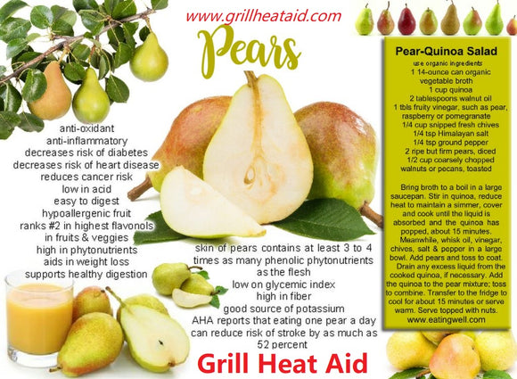 Health Benefits Of Pears (Nashpati) Suggested by Grill Heat Aid
