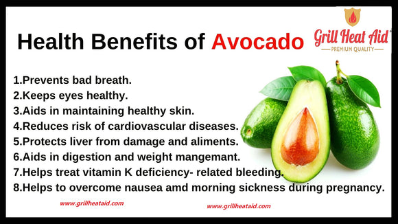 Top 10 Health Benefits of Avocados Suggested by Grill Heat Aid