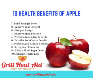 10 Health Benefits of Eating Apples Regularly Suggested by Grill Heat Aid