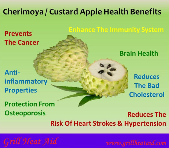 Interesting Health Benefits of Custard Apple Suggested by Grill Heat Aid