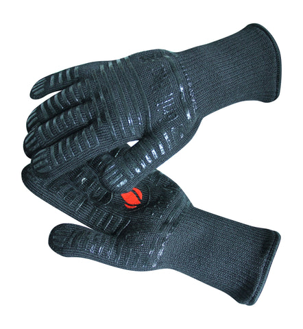 GRILL HEAT AID Extreme Heat Resistant BBQ Gloves. Premium Insulated Durable Fireproof Kitchen Mitts For Cooking, Grilling, Frying, Baking. Indoor Outdoor Accessories For Men Women, Black, One Size