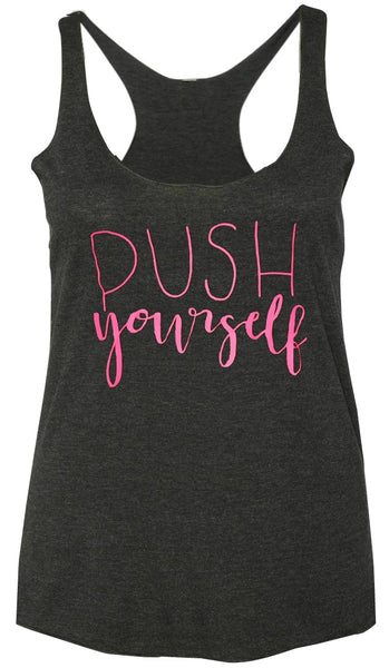 Push Yourself Tank Dark Gray
