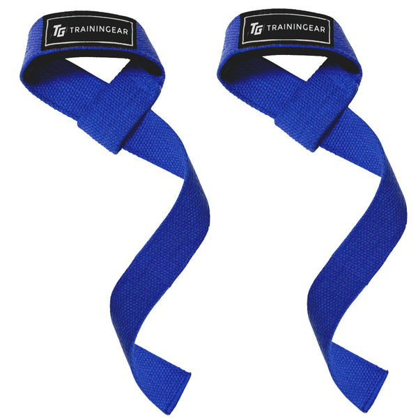 Padded Lifting Straps Blue
