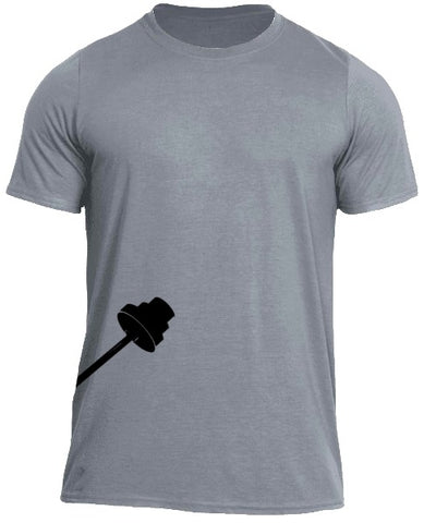 Trainingear Lifting Bar Fitted T-Shirt Gray