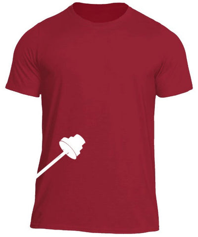 Trainingear Lifting Bar Fitted T-Shirt Red