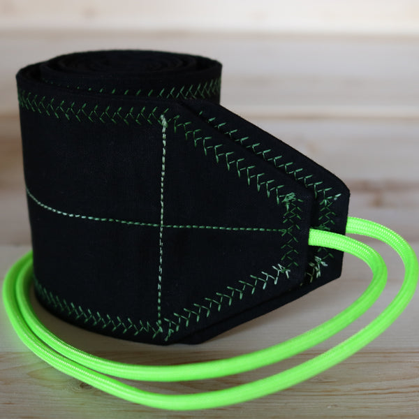 Wrist Wraps Black & Neon Green